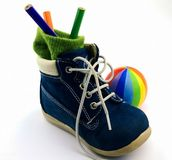 Footwear and ball Royalty Free Stock Photography