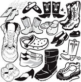 Footwear Collection Stock Photography