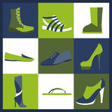 Footwear elements icons set. Easily edited Stock Images