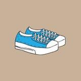 Footwear fashion canvas shoes cartoon Stock Image