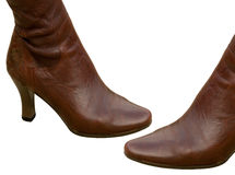 Footwear female boots Royalty Free Stock Images