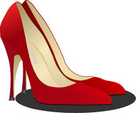 Footwear, High Heeled Footwear, Red, Shoe Stock Image