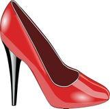 Footwear, High Heeled Footwear, Red, Shoe royalty free stock image