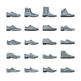 Footwear icon vector set Royalty Free Stock Photo