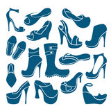 Footwear icons Royalty Free Stock Photo