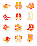 Footwear icons | JUICY series Stock Photos