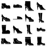 Footwear icons set, simple style Royalty Free Stock Photos