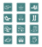 Footwear icons | TEAL series royalty free illustration