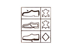 Footwear label symbol Stock Photo