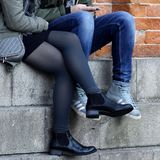 Footwear, Leg, Tights, Shoe stock images