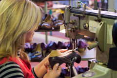 Footwear manufacture Royalty Free Stock Images