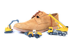 Footwear manufacturing Stock Photos