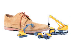 Footwear manufacturing Royalty Free Stock Photography