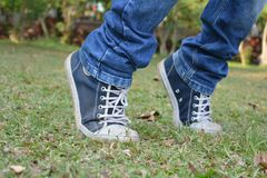 Footwear, Photograph, Grass, Shoe royalty free stock image