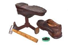Footwear repair. Royalty Free Stock Image