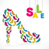 Footwear sale banner design Stock Photos