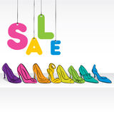 footwear sale banner design Royalty Free Stock Image
