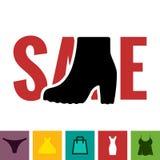 Footwear Sale Icon Stock Photo