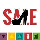 Footwear Sale Icon Stock Photos