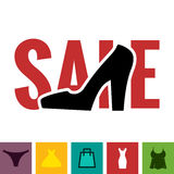 Footwear Sale Icon Royalty Free Stock Images