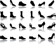 Footwear a set Royalty Free Stock Photography