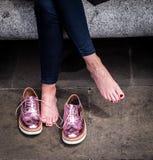 Footwear, Shoe, Pink, Purple stock photos