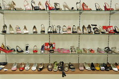 Footwear shop Stock Photos