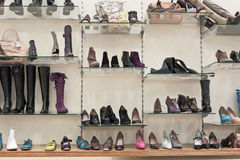 Footwear shop Stock Image