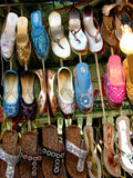 Footwear Shop. Indian footwear known as chappals for sale in a shop Royalty Free Stock Photography