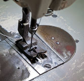 Footwear stitching machine Royalty Free Stock Photos
