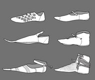 Footwear_14th_century Arkivfoto