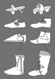 Footwear from the 13th century Stock Image