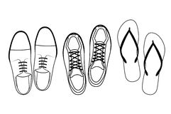 Footwear top view Stock Photography