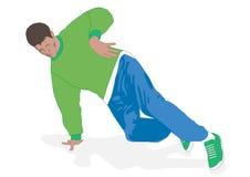 Footwork de la danza de rotura ilustración del vector