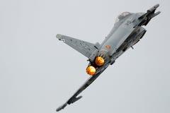 Força aérea espanhola Eurofighter Imagem de Stock