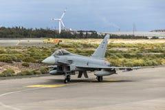 Força aérea espanhola Eurofighter Foto de Stock Royalty Free