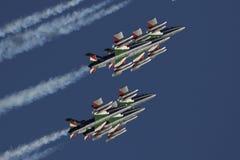 Força aérea especial italiana da unidade - Frecce Tricolori - Fotografia de Stock Royalty Free