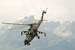 Força aérea Mi-24 do russo Fotos de Stock Royalty Free