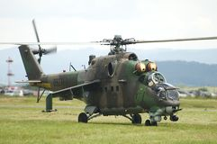 Força aérea Mi-24 do russo Imagem de Stock