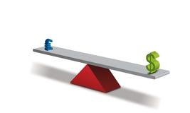 Força da moeda ilustração do vetor