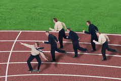 Força de alavanca do negócio Foto de Stock