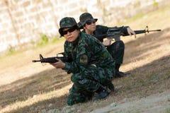 Força de assalto especial das mulheres fotografia de stock royalty free