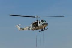 Força de greve no helicóptero Fotos de Stock Royalty Free