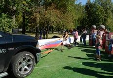 A força desloca o carro no monte de Poklonnaya Foto de Stock Royalty Free