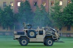Força do exército britânico durante a mostra militar da demonstração Fotos de Stock Royalty Free
