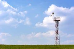 Força e sentido de medição do vento usando um cone foto de stock royalty free