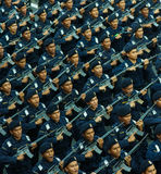A força policial Foto de Stock