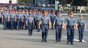 A força policial em Manila, Filipinas Fotografia de Stock