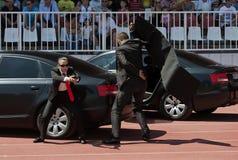 Força sérvio do protetor do corpo da polícia em action-1 Fotografia de Stock