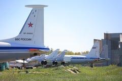 Forças aéreas do russo Planos diferentes na terra Foto de Stock Royalty Free